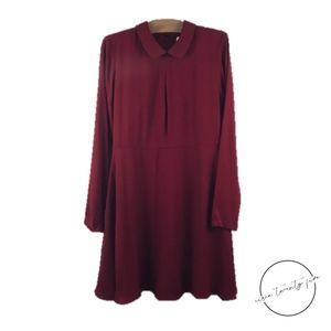 Sonia by Sonia Rykiel Peter Pan Collar Red Dress